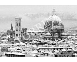 253 Duomo con neve bianco nero