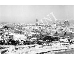 294 Veduta Firenze  con neve
