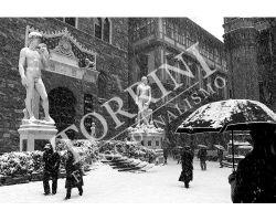 Piazza Signoria con neve