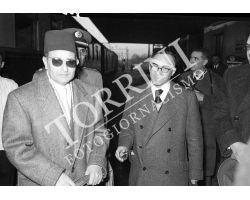 Foto storiche Firenze Sultano del Marocco Maometto V Giorgio La Pira
